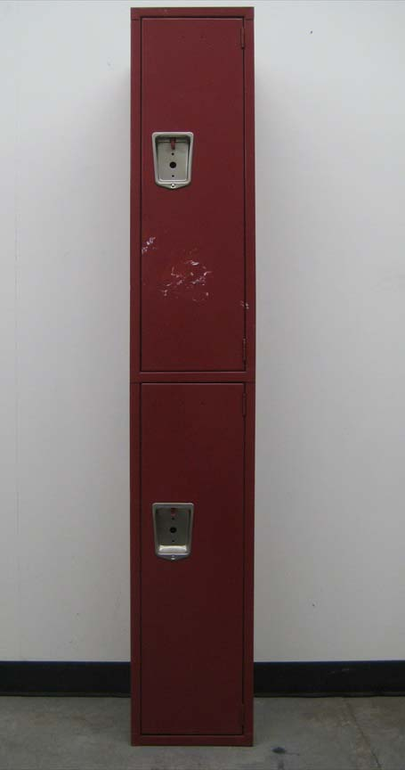 Double Tier Maroon Colored Lockersimage 2 image 2