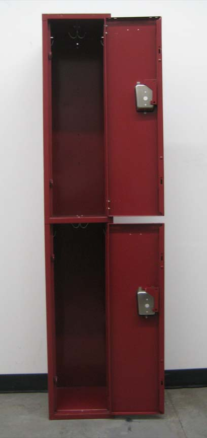 Double Tier Maroon Colored Lockersimage 4 image 4