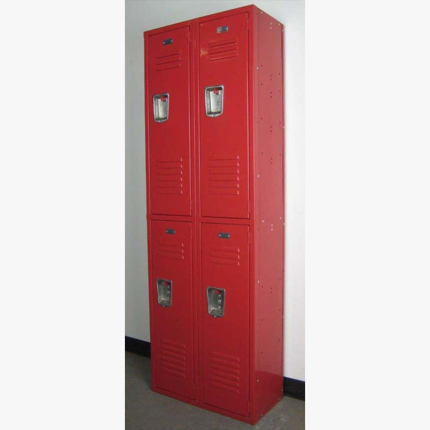 Red Double Tier Penco Lockers