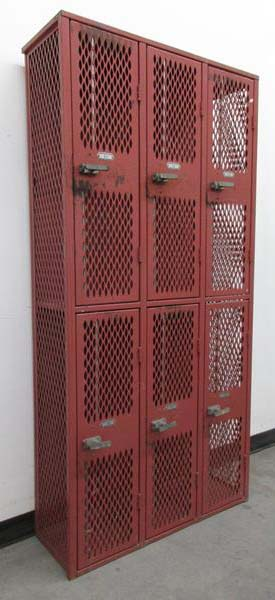 Red Sports Lockers