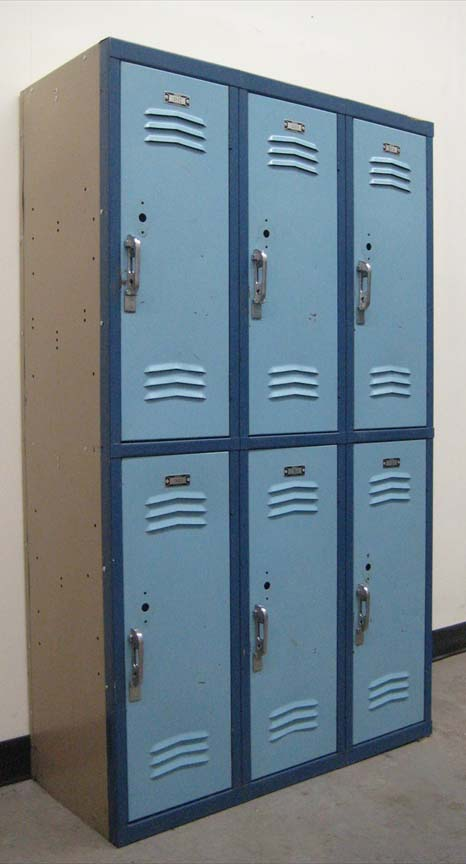 Mixed colored 2-Tier School Lockers