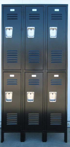 Black Double Stacked Lockers