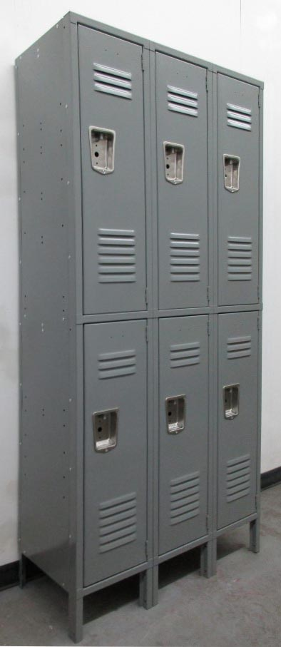 Double Stacked Steel Lockers