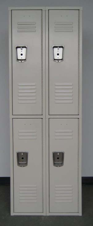 Tan Double Tier Penco Steel School Lockers
