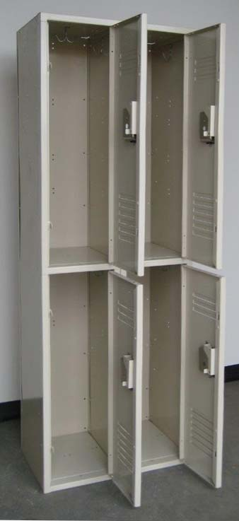 Tan Double Tier Penco Steel School Lockersimage 3 image 3