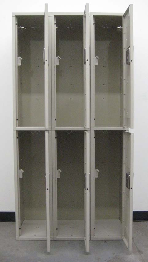 Double Tier Tan Colored School Lockersimage 3 image 3