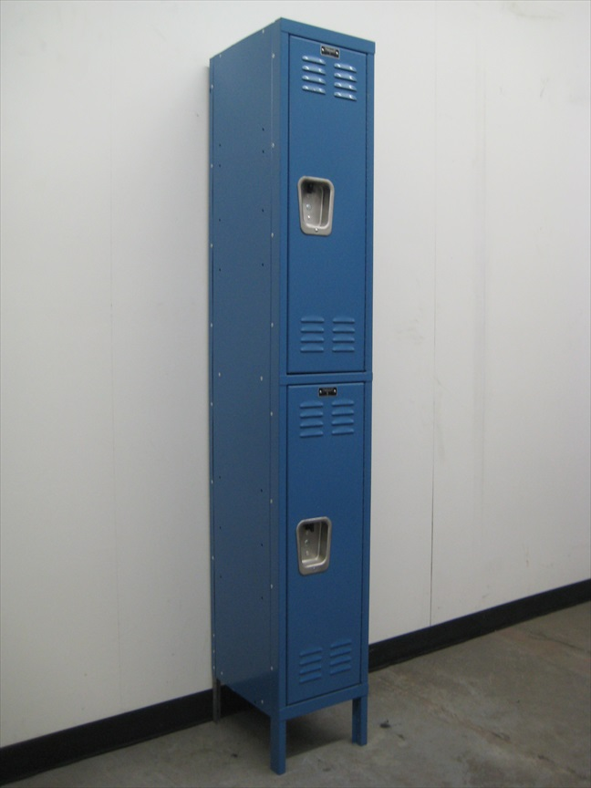 Blue Hallowell Double Tier Lockers