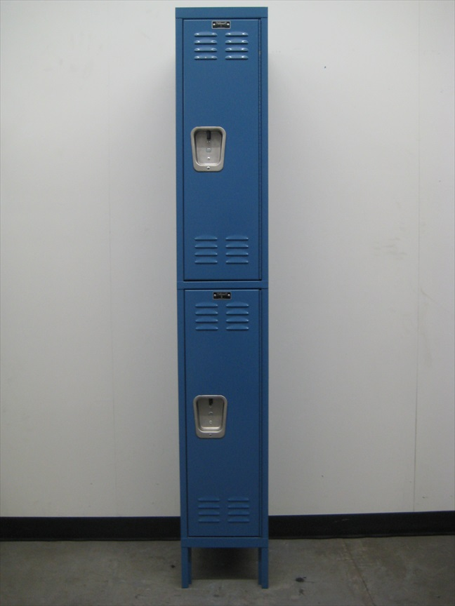 Blue Hallowell Double Tier Lockersimage 2 image 2