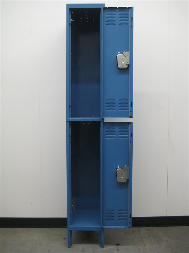 Blue Hallowell Double Tier Lockersimage 3 image 3