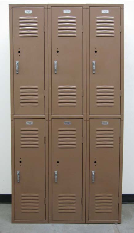 Brown Double Tier Used School Lockersimage 2 image 2