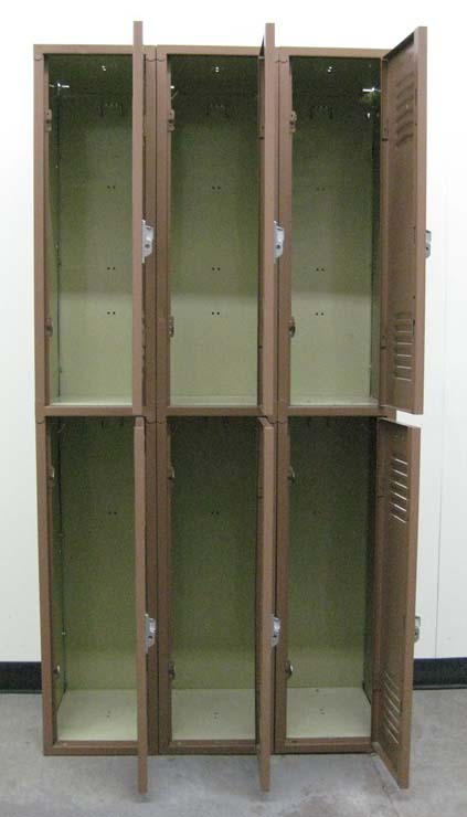 Brown Double Tier Used School Lockersimage 3 image 3