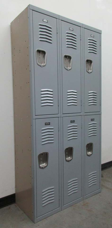 Double Stacked Interior Metal Lockers