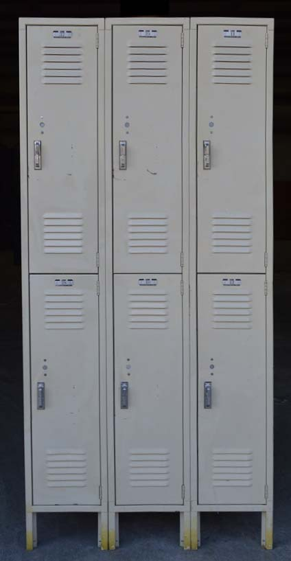 Used Double Tier Lyon Metal Lockersimage 2 image 2