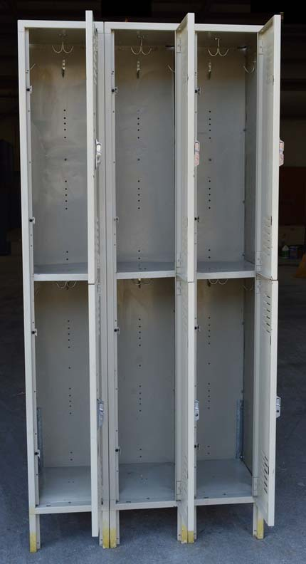 Used Double Tier Lyon Metal Lockersimage 3 image 3