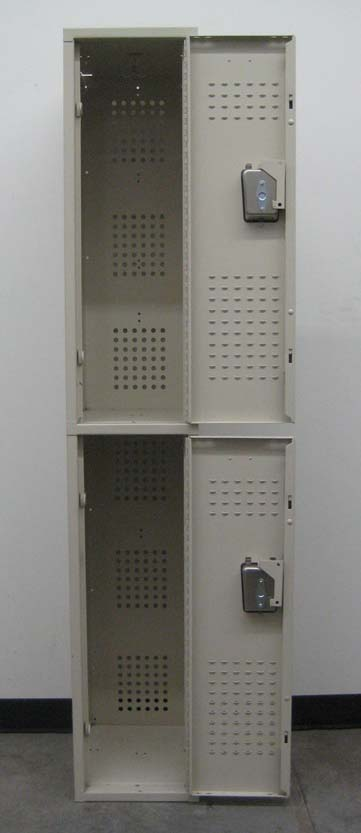 Double Tier Tan Colored Storage Lockersimage 3 image 3