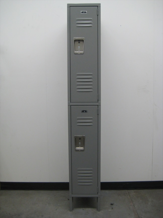 Gray 2-Tier Storage Lockersimage 2 image 2