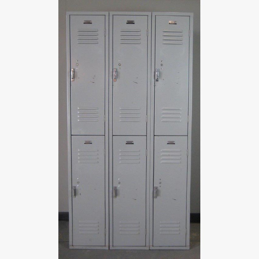 Double Tier Gray colored School Lockersimage 2 image 2