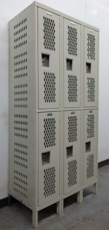 Used Two Tier Metal Lockers