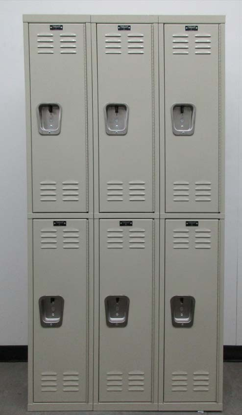 Tan Colored Double Tier Lockerimage 2 image 2