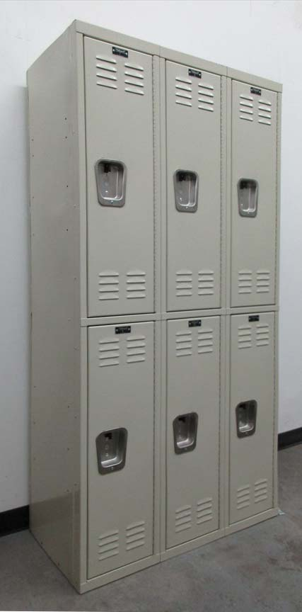 Tan Colored Double Tier Locker