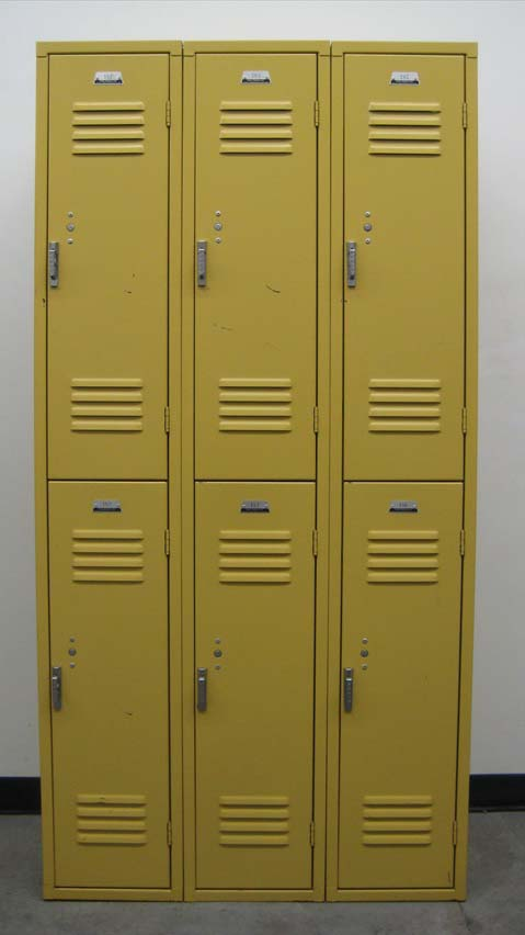 Large Double Tier Yellow Lockersimage 2 image 2