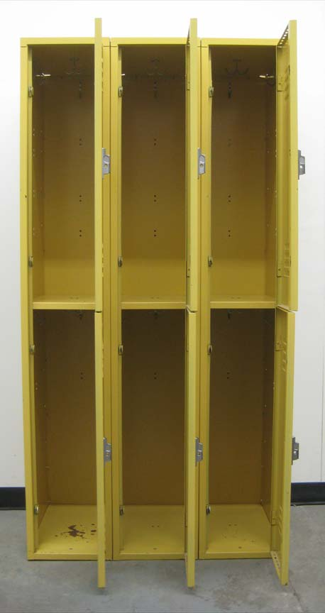 Large Double Tier Yellow Lockersimage 3 image 3