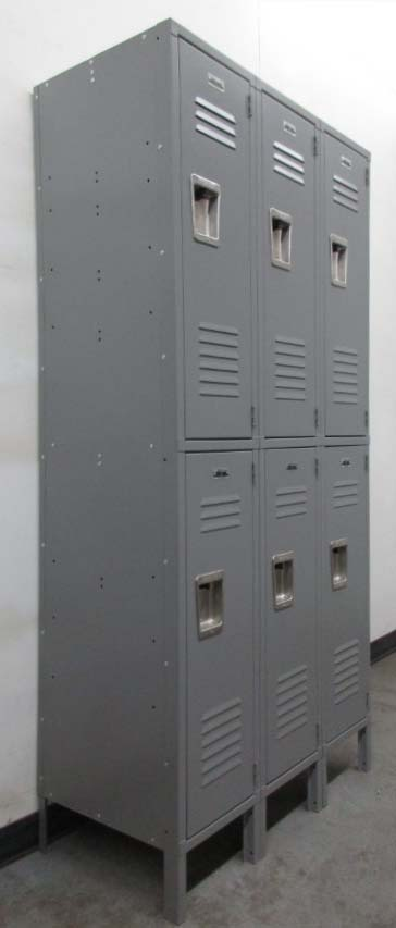 Gray 2-Tier Storage Lockers