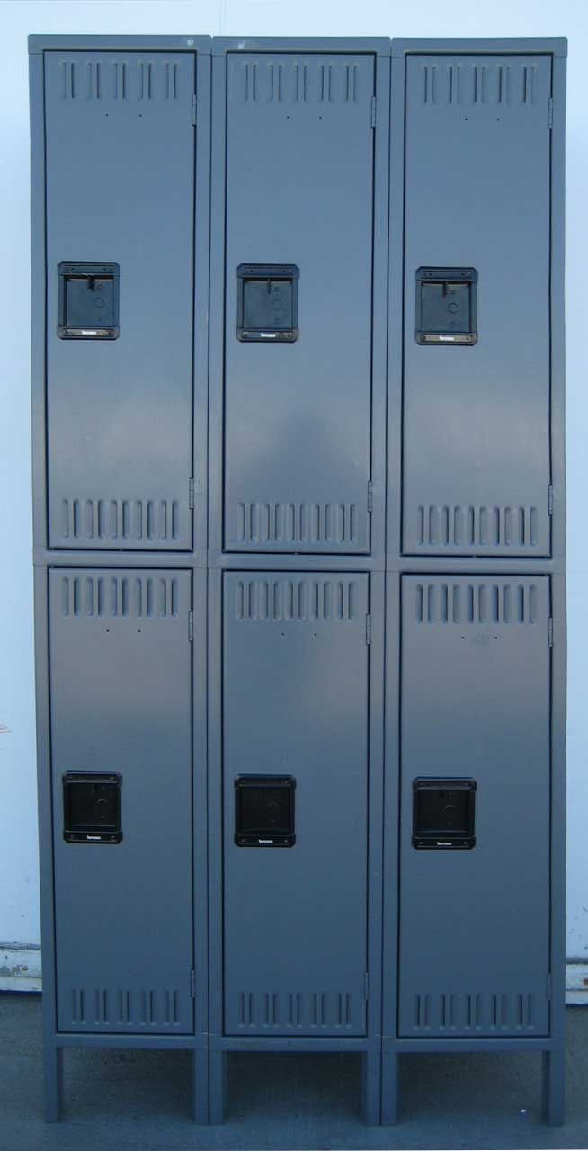 Gray Double Tier Metal Lockers