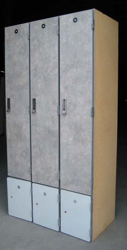 Box Under Wood Laminate Lockers