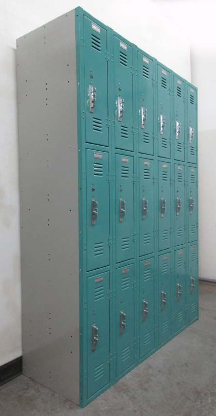 Blue Triple Tier Republic Lockers
