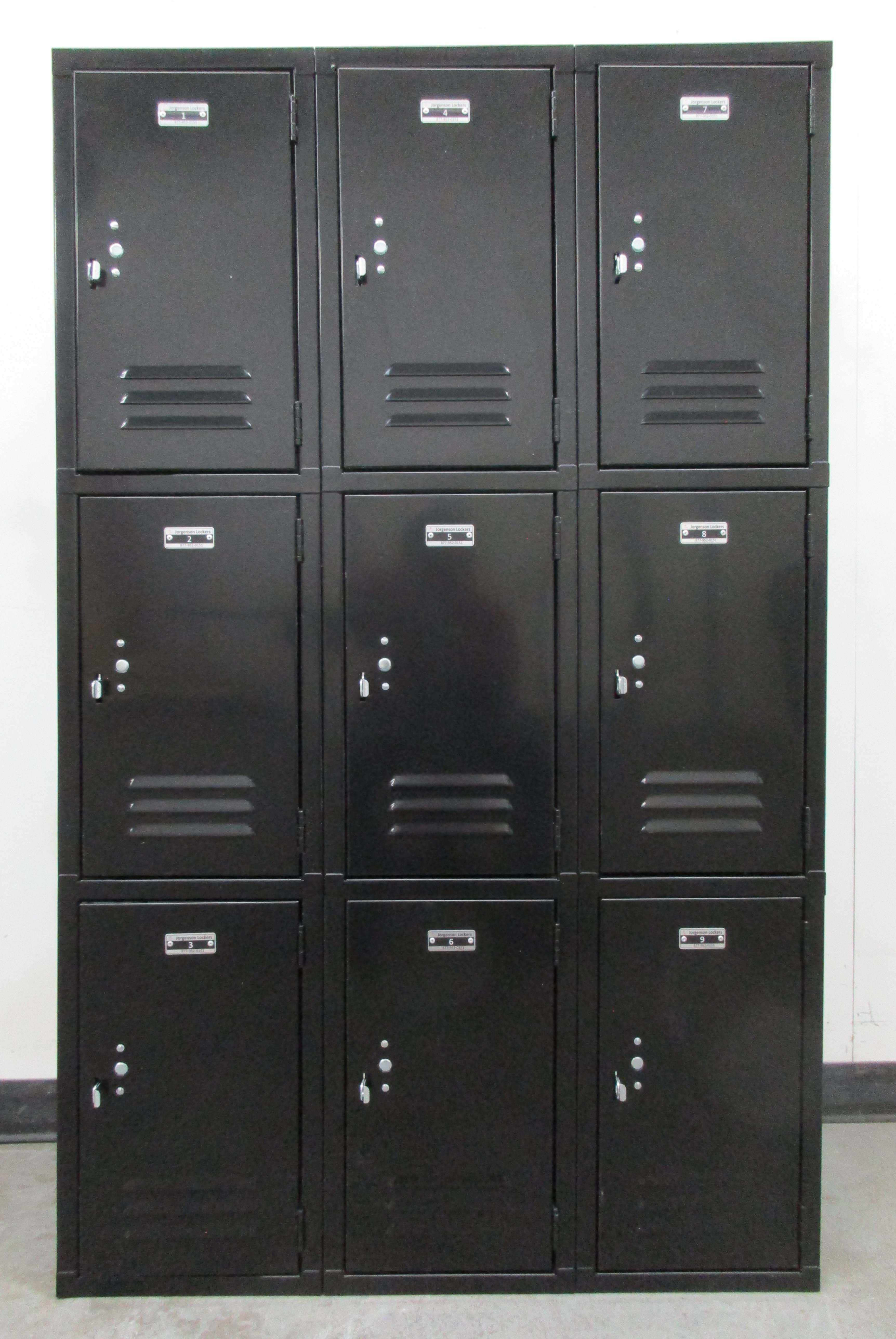 Black Triple Tier Storage Lockersimage 2 image 2