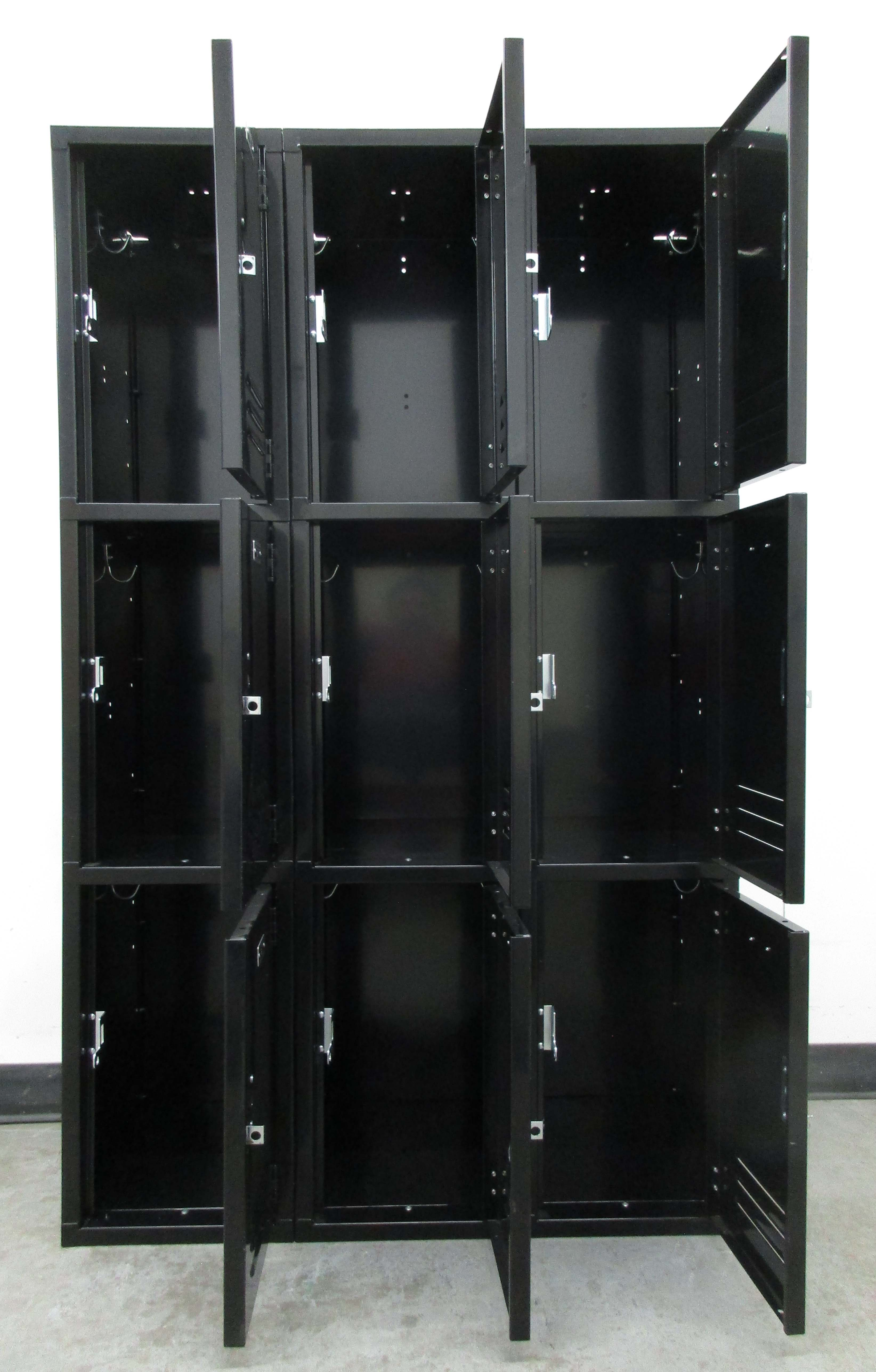Black Triple Tier Storage Lockersimage 3 image 3