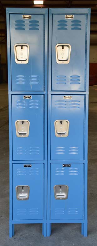 Standard Three Tier Steel Lockersimage 2 image 2