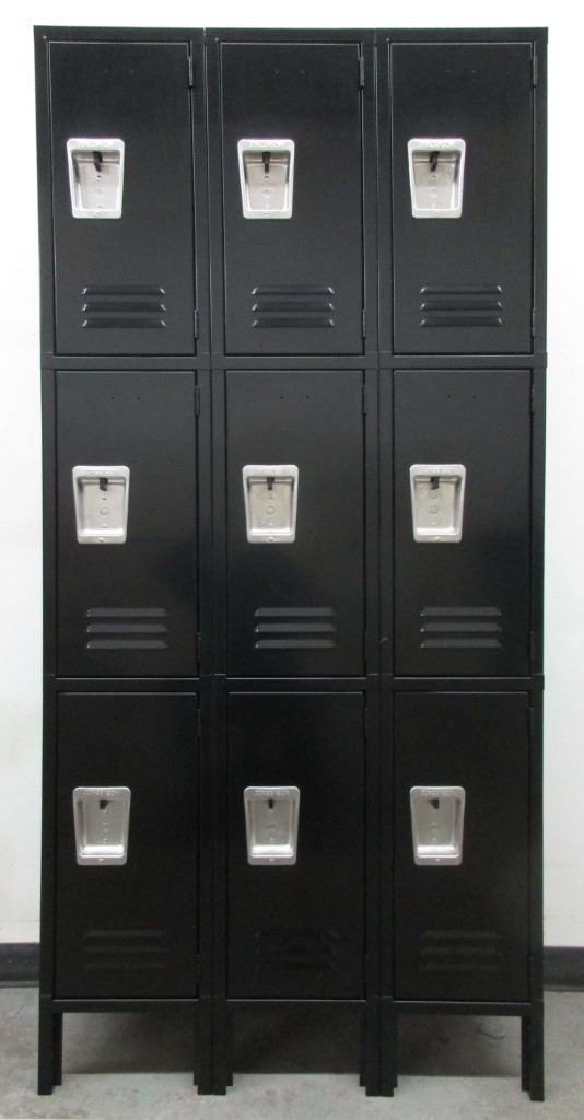 Gray Three Tier Metal Lockersimage 2 image 2