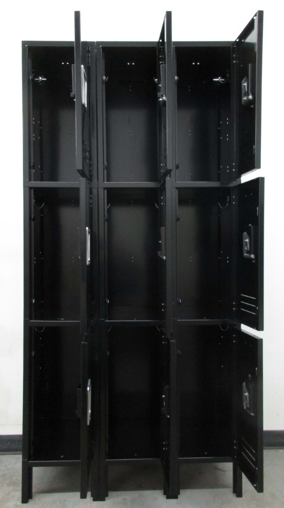 Gray Three Tier Metal Lockersimage 3 image 3