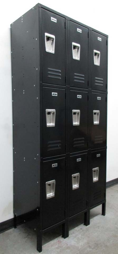 3 Tier Black Box Style Lockers