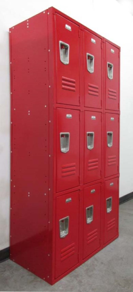 Triple Tier Metal Storage Lockers