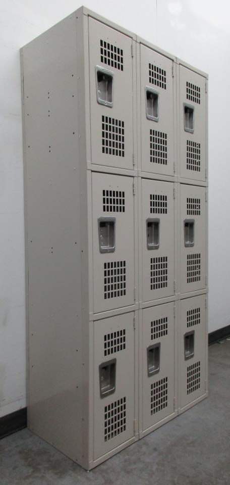 3 Tier Metal Lockers with Ventilated doors