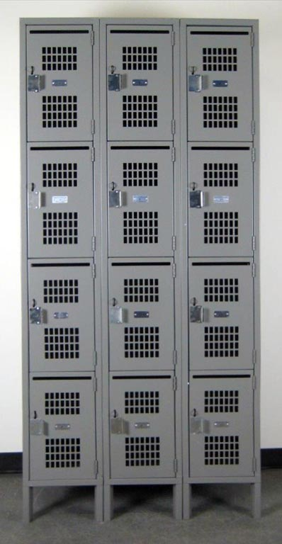 Four Tier School Lockers with Perforated Doorsimage 2 image 2