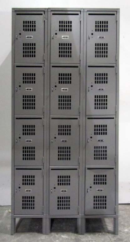 Four Tier Perforated Lockers with Mail Slotimage 2 image 2