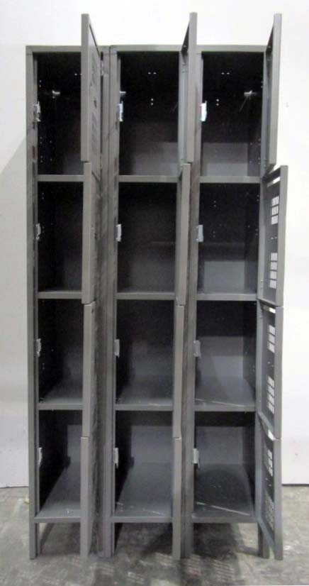 Four Tier Perforated Lockers with Mail Slotimage 3 image 3