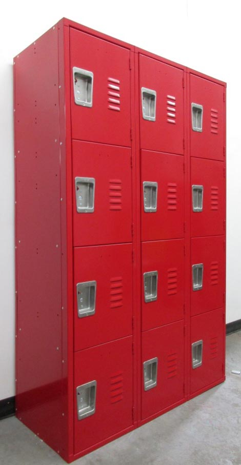 Red Multi Tier Metal School Lockers