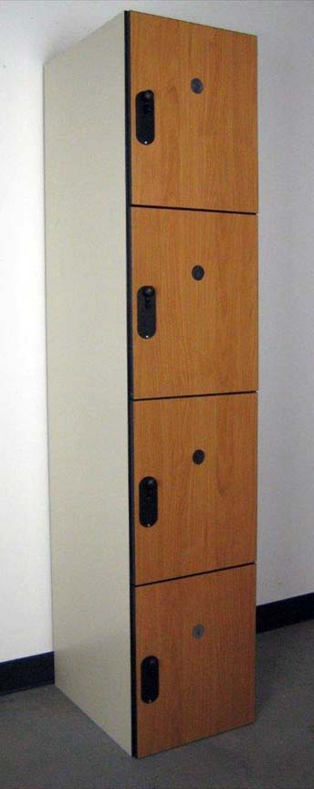Four Tier Wood Laminate Locker