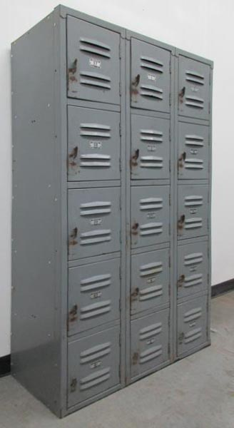 Gray 5-Tier Box Style Metal Lockers