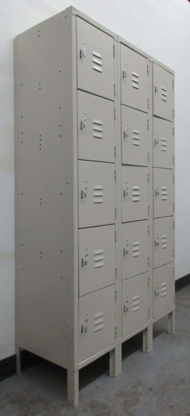 5 Tier Tan Jorgenson Box Lockers