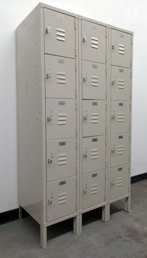 Tan 5 Tier School Lockers