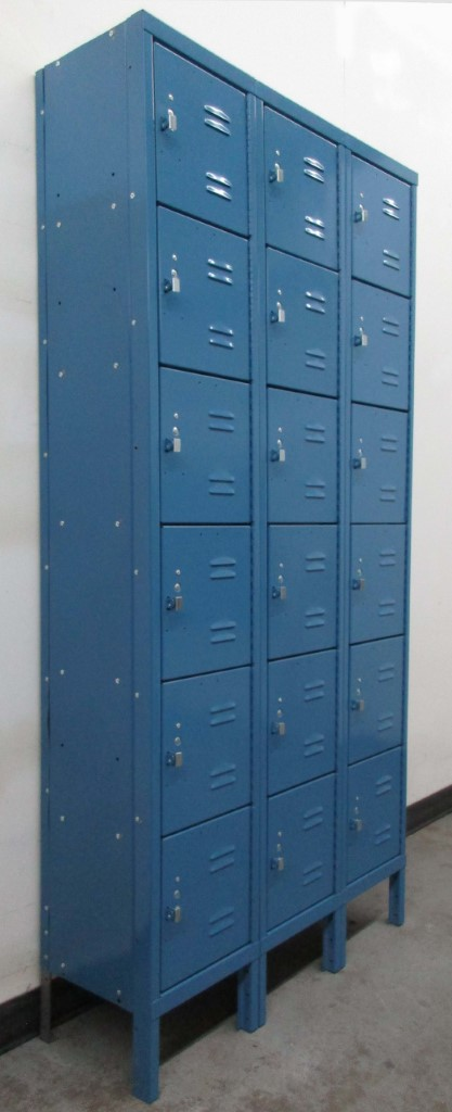 Six Tier Blue Box Lockers