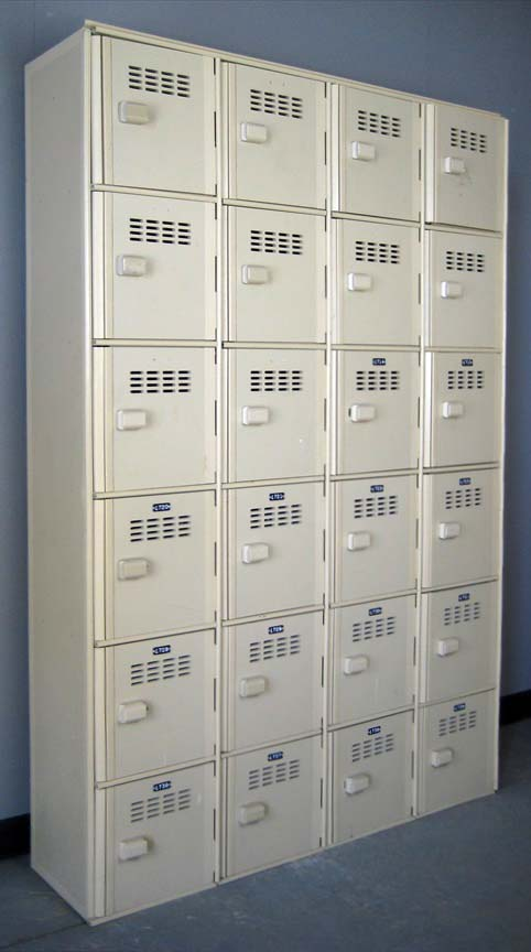 White Six Tier Plastic Lockers