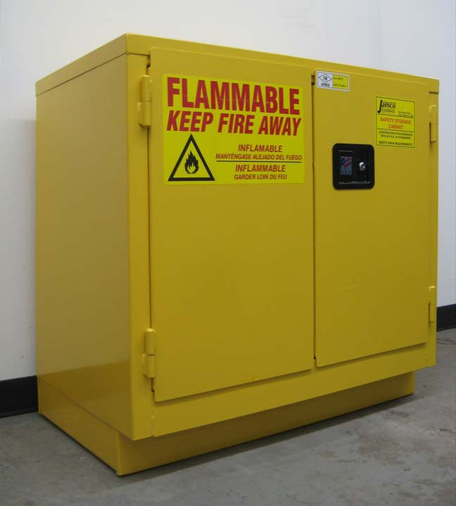 22 Gallon Yellow Flammable Cabinet