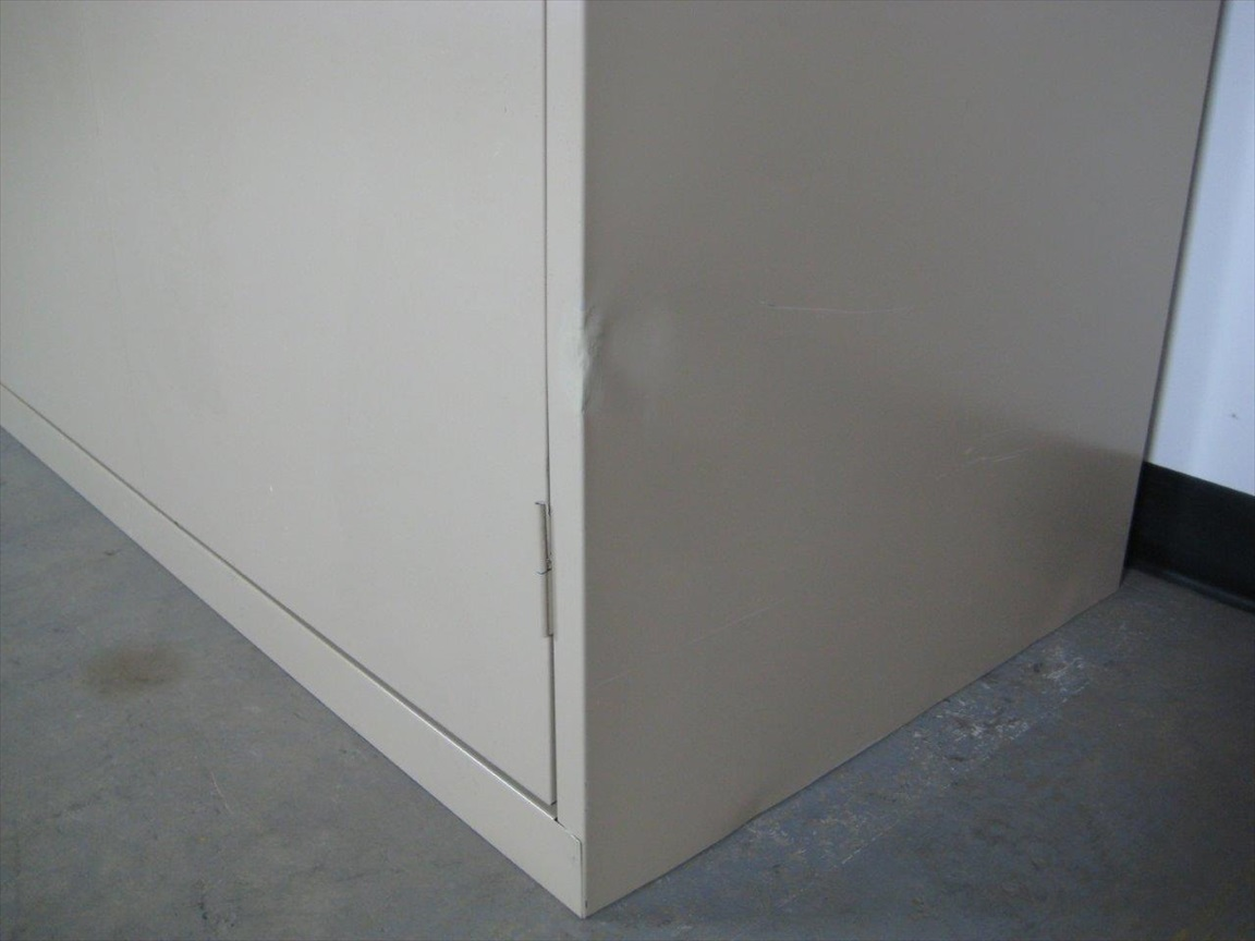 Tan Storage Cabinet with Wood Topimage 3 image 3